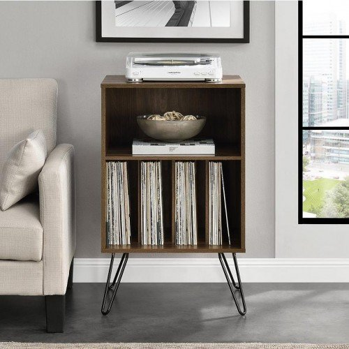 Concord Furniture Walnut Turntable Stand Small Bookcase