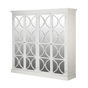 Banbury Painted Furniture White 4 Door Wardrobe
