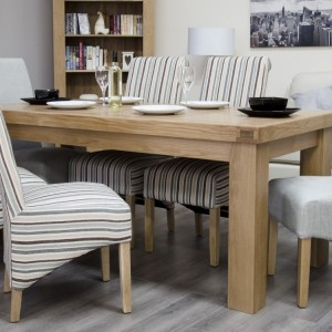 Bordeaux Solid Oak Furniture 6ft x 3ft Dining Table and 6 Chairs Set
