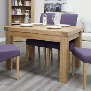 Bordeaux Solid Oak Furniture Small Extending Dining Table