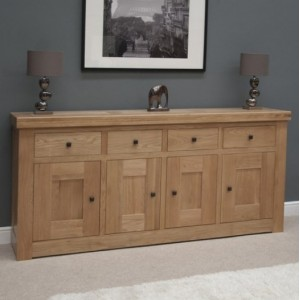 Bordeaux Solid Oak Furniture 4 Door 4 Drawer Sideboard