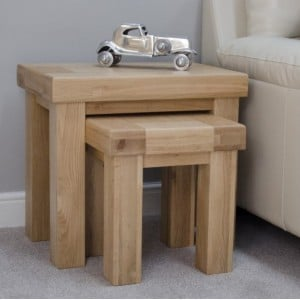 Bordeaux Solid Oak Furniture Nest of Tables