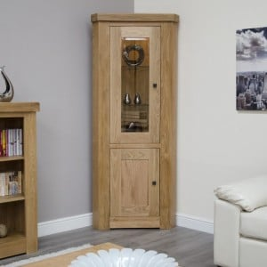 Bordeaux Solid Oak Furniture Corner Display Unit