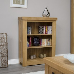 Bordeaux Solid Oak Furniture Small Bookcase