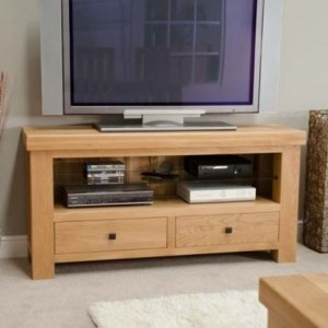 Bordeaux Solid Oak Furniture TV Unit