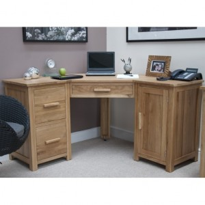 Homestyle Opus Solid Oak Furniture Corner Computer Desk
