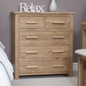 Homestyle Opus Solid Oak Furniture 2 Over 3 Chest Of Drawers