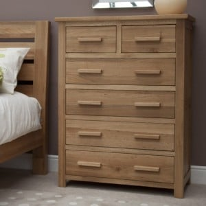 Homestyle Opus Solid Oak Furniture 2 Over 4 Chest Of Drawers