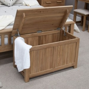 Homestyle Opus Solid Oak Furniture Blanket Box