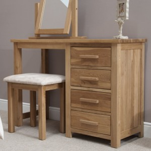 Homestyle Opus Solid Oak Furniture Dressing Table And Stool