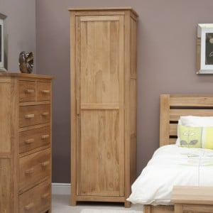 Homestyle Opus Solid Oak Furniture Single Wardrobe