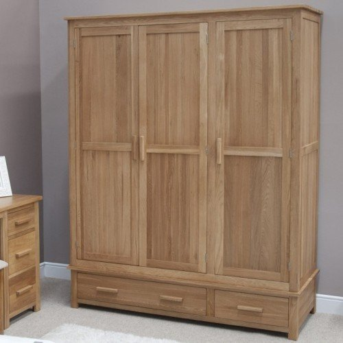 Homestyle Opus Solid Oak Furniture Triple Wardrobe