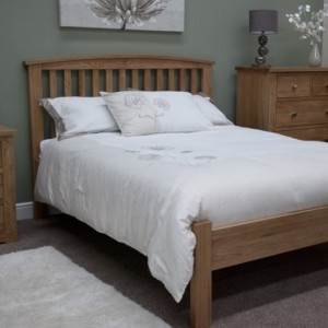 Homestyle Opus Solid Oak Furniture Arched Single Bed 3ft