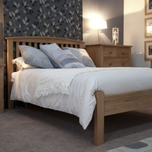 Homestyle Opus Solid Oak Furniture Arched Double Bed 4ft 6
