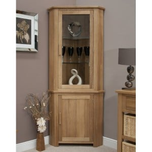 Homestyle Opus Solid Oak Furniture Corner Display Unit