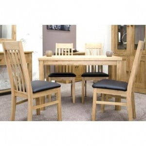 Homestyle Opus Solid Oak Furniture 120cm Dining Room Table
