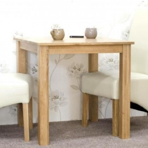 Homestyle Opus Solid Oak Furniture 2 Seater Dining Room Table