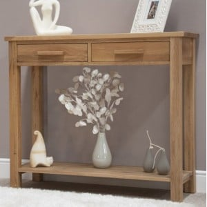 Homestyle Opus Solid Oak Furniture Console Table