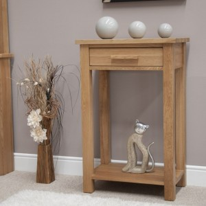 Homestyle Opus Solid Oak Furniture Small Hall Console Table