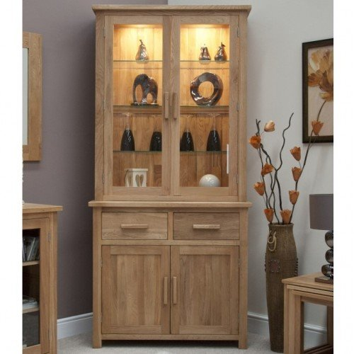Homestyle Opus Solid Oak Furniture Small Display Cabinet