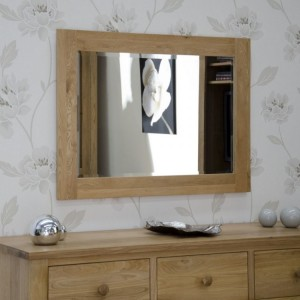 Homestyle Opus Solid Oak Furniture 1020 x 720mm Wall Mirror