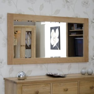 Homestyle Opus Solid Oak Furniture 1500 x 750mm Wall Mirror