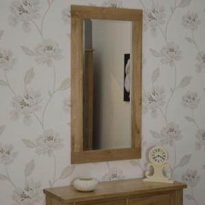 Homestyle Opus Solid Oak Furniture 1150 x 600mm Wall Mirror