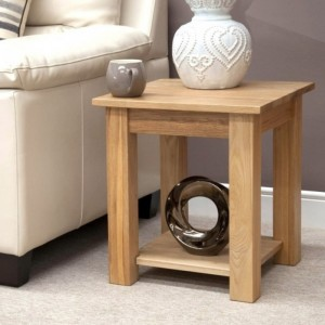 Homestyle Opus Solid Oak Furniture Lamp Table