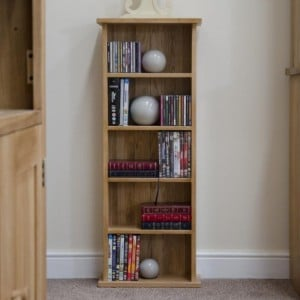 Homestyle Opus Solid Oak Furniture CD & DVD Tower Rack