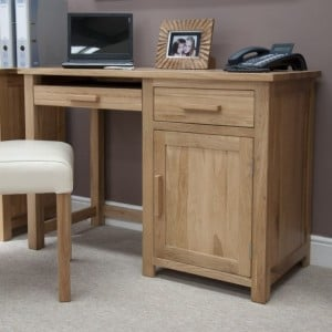 Homestyle Opus Solid Oak Furniture Small Computer Desk