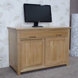 Homestyle Opus Solid Oak Furniture Hideaway Computer Desk