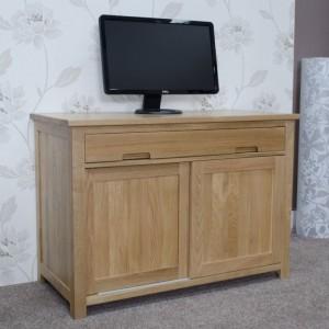 Homestyle Opus Solid Oak Furniture Hideaway Computer Desk - PRE-ORDER