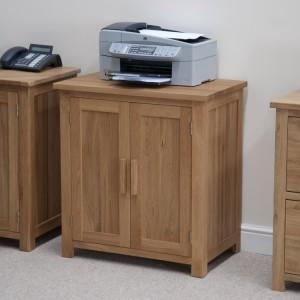 Homestyle Opus Solid Oak Furniture Printer Storage Cabinet