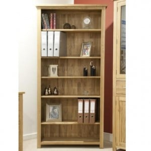 Homestyle Opus Solid Oak Furniture Large Bookcase