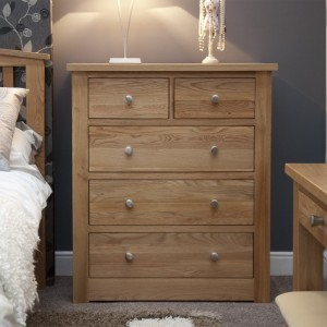 Homestyle Torino Solid Oak Furniture 2 Over 3 Chest