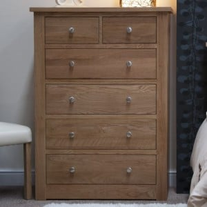 Homestyle Torino Solid Oak Furniture 2 Over 4 Chest
