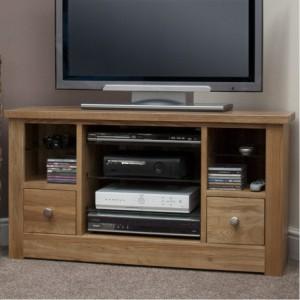 Homestyle Torino Solid Oak Furniture Corner TV Unit - PRE-ORDER