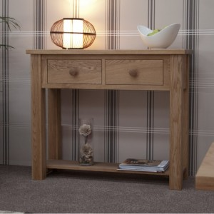 Homestyle Torino Solid Oak Furniture Console Table