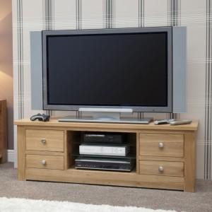 Homestyle Torino Solid Oak Furniture Large Plasma Unit