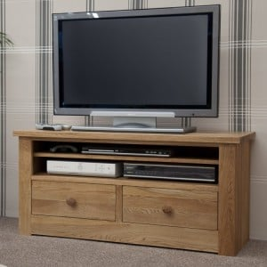 Homestyle Torino Solid Oak Furniture Small Plasma Unit
