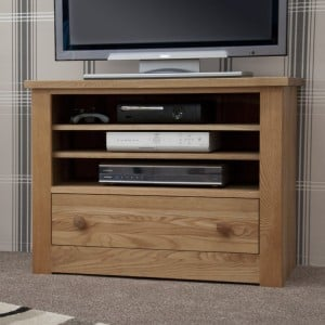 Homestyle Torino Solid Oak Furniture TV Unit