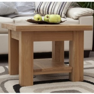 Homestyle Torino Solid Oak Furniture 2x2 Coffee Table