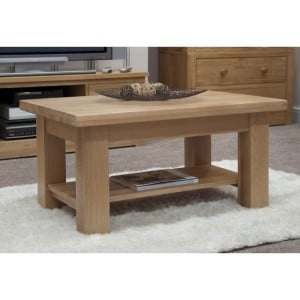 Homestyle Torino Solid Oak Furniture 3x2 Coffee Table