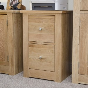 Homestyle Torino Solid Oak Furniture 2 Drawer Filing Cabinet