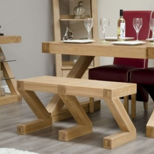 Homestyle Z Solid Oak Furniture Dining Table Small Bench