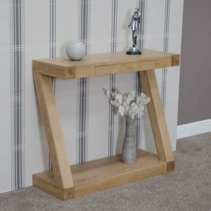 Homestyle Z Solid Oak Furniture Console Table
