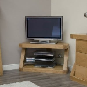 Homestyle Z Solid Oak Furniture Corner TV Unit