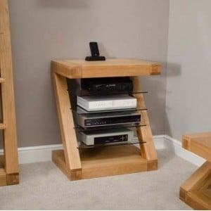 Homestyle Z Solid Oak Furniture Hi Fi Unit