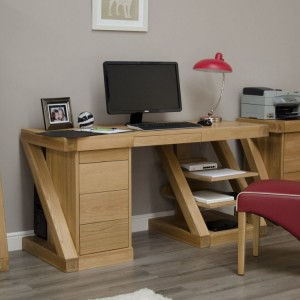 Homestyle Z Solid Oak Furniture Large Computer Desk