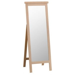 Langham Lime Washed Oak Furniture Cheval Mirror